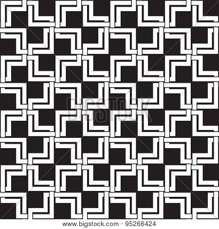 Seamless pattern of intersecting double squares