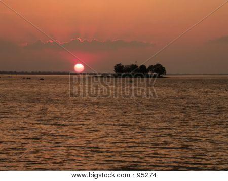Sunset At Upper Lake II