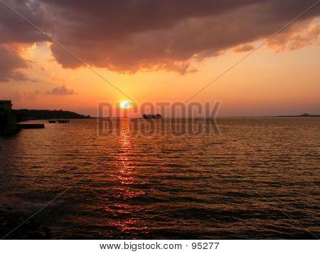 Sunset At Upper Lake III