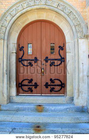Beautiful stone entryway to church