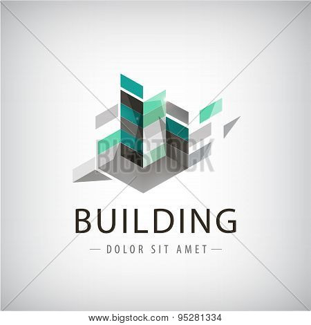 Concept vector graphic - Colorful buildings of urban skyline