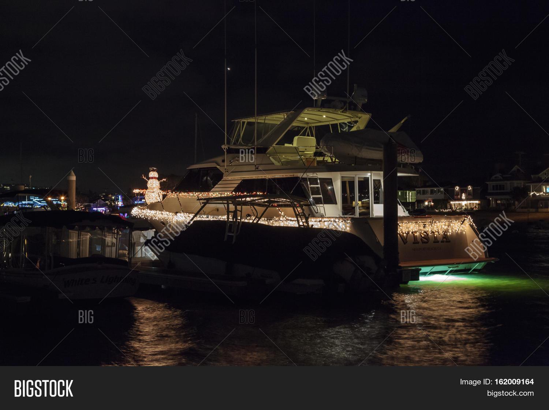 Newport Beach Christmas Boat Parade.December 16 2016 Image Photo Free Trial Bigstock