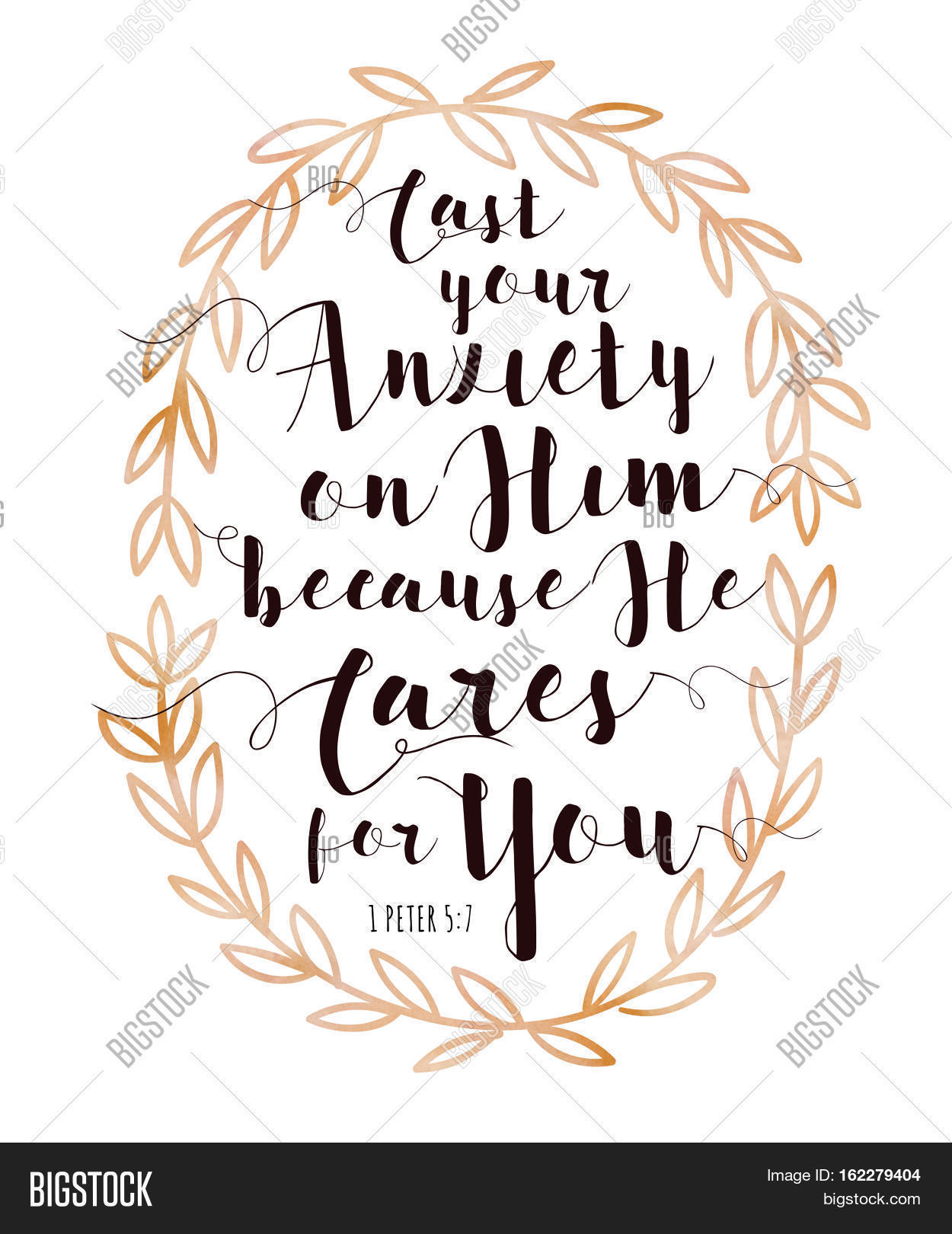 photograph regarding Free Printable Bible Verses to Frame named Solid Your Nervousness Upon Picture Photograph (Absolutely free Demo) Bigstock