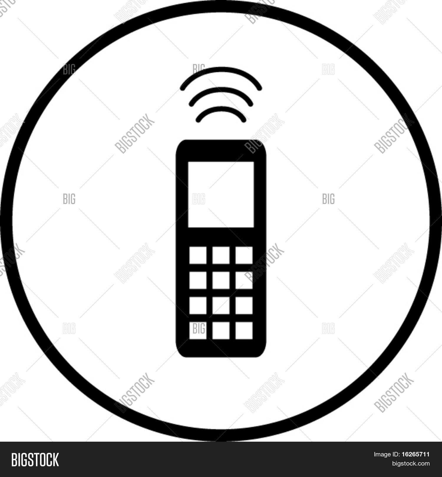 Cell Phone Symbol Vector & Photo (Free Trial) | Bigstock