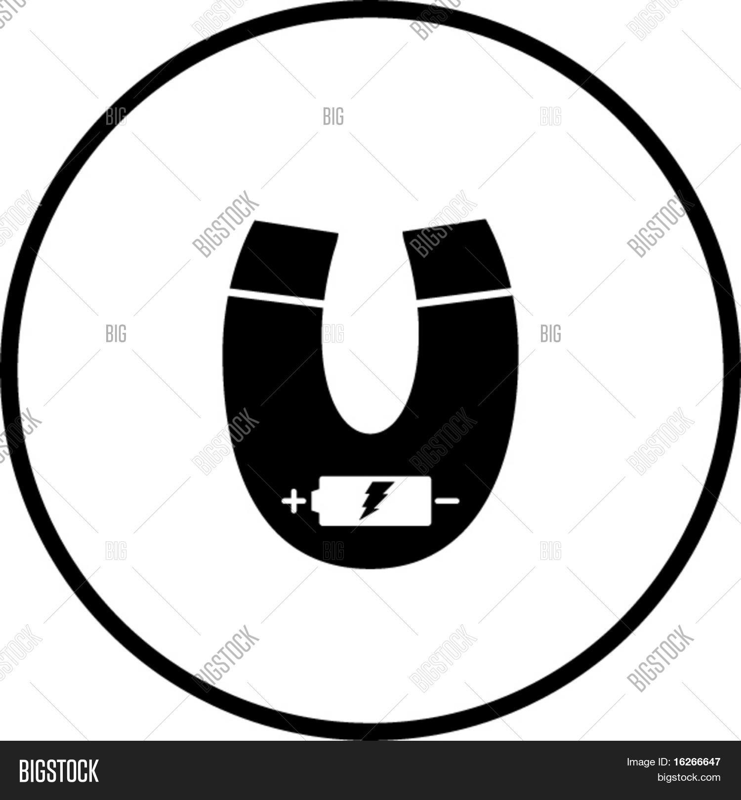 Electromagnet Symbol Vector & Photo (Free Trial) | Bigstock