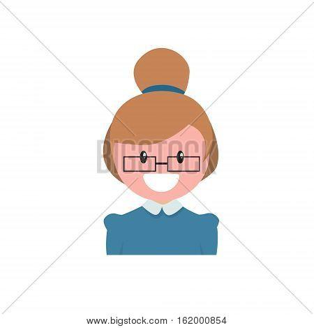 Profile Icon Female Avatar, Woman Cartoon Portrait, Casual Person Flat Vector Illustration