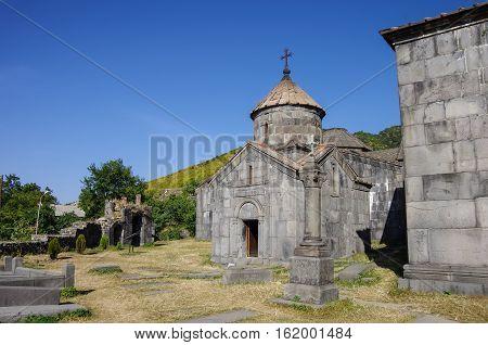 Haghpat, Armenia - September 17, 2013: Haghpatavank (Haghpat Monastery) a medieval Armenian monastery complex in It's a UNESCO World Heritage site