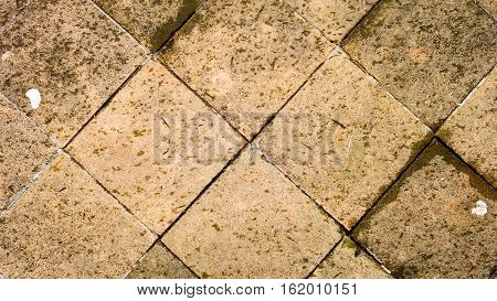 Square  rough old bricks wall rhombic pattern texture
