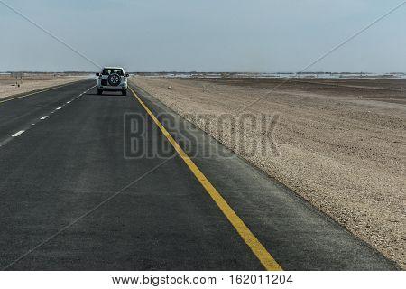 Offroad Tour safari road in the desert in Oman Salalah 7