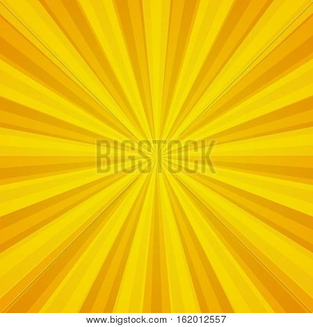 Colored back Pop Art Style yellow background. For comic text bubble backdrop line space. Funny sun beam template. Vector illustration.