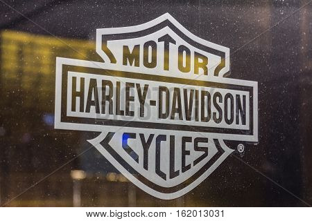 Las Vegas - Circa December 2016: Harley-Davidson Local Signage. Harley Davidson's Motorcycles are Known for Their Loyal Following VI