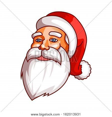 Santa claus emotions. Part of christmas set. Ready for print. Calm, peace, coolness, equanimity EPS10