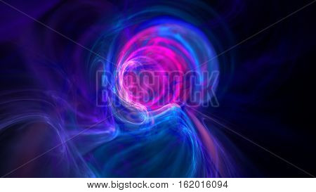 Colorful wormhole galaxy abstract background 3D continuum