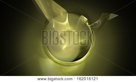 Gold yellow wormhole galaxy abstract background 3D continuum