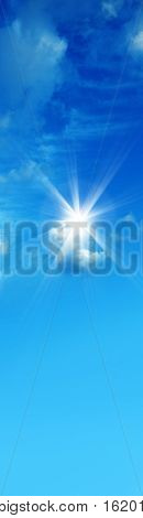 an image of blue sky and sun