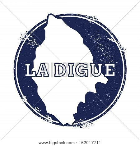 La Digue Vector Map. Grunge Rubber Stamp With The Name And Map Of Island, Vector Illustration. Can B