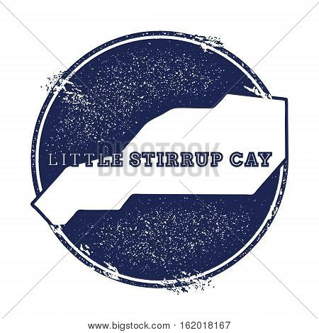 Little Stirrup Cay Vector Map. Grunge Rubber Stamp With The Name And Map Of Island, Vector Illustrat