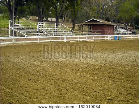 This is a photo of a rodeo arena.