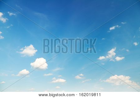blue cloudy sky background.Light blue sky with clouds may be used as background.Beautiful Blue Sky Background Template With Some Space for Input Text Message.