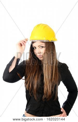 young and beautiful female architect