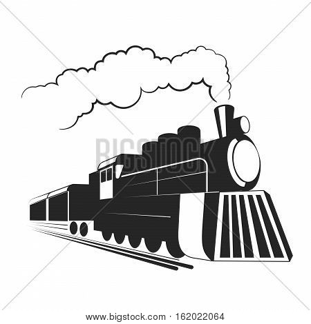 On the image presented Old  locomotive illustration.