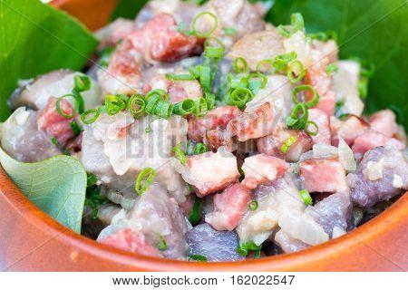 Taro Bacon Hash