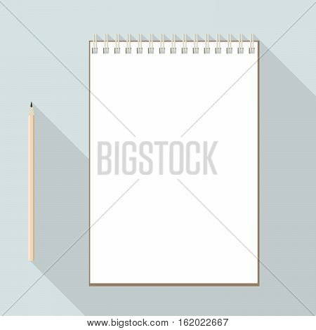 To Left Handed Pencil And Blank Paper Notebook
