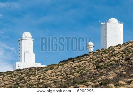 planetarium, astronomical observatory station buildings on mountain