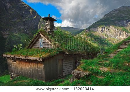 The Skagefla farm is a Unesco designated farm in the Geirangerfjord.