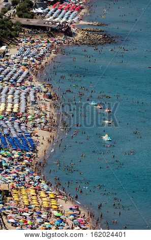 Cefalu's beach is considered one of the best beaches in Sicily. The beach is a major tourist attraction and is usually crowded during the summer months.
