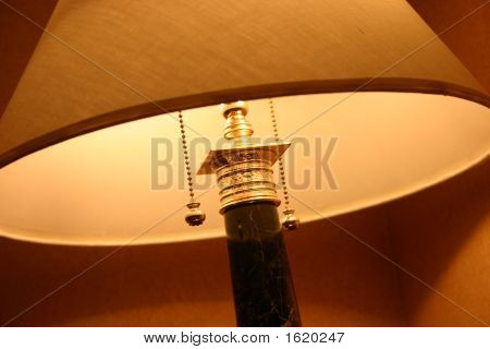Closeup Lamp With Pull Chains