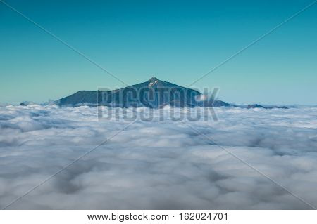 Mountain Summit Above Clouds, Pico Del Teide