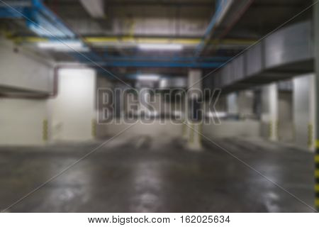 abstract blur of car park slot in building - can use to display or montage on product