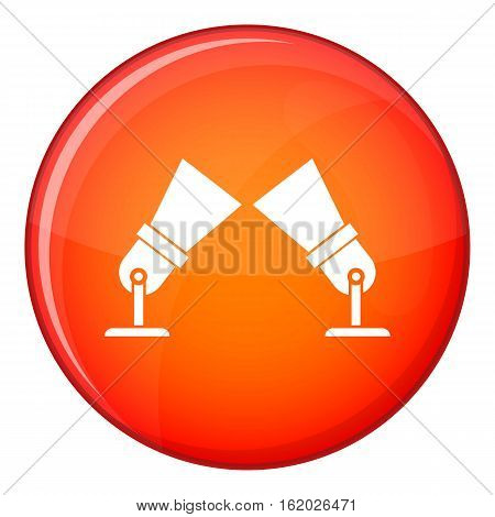 Floodlights icon in red circle isolated on white background vector illustration