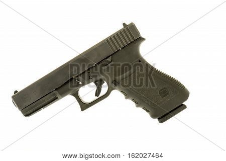 Winneconne WI - 6 December 2016: Glock 21 handgun in 45 caliber on an isolated background.