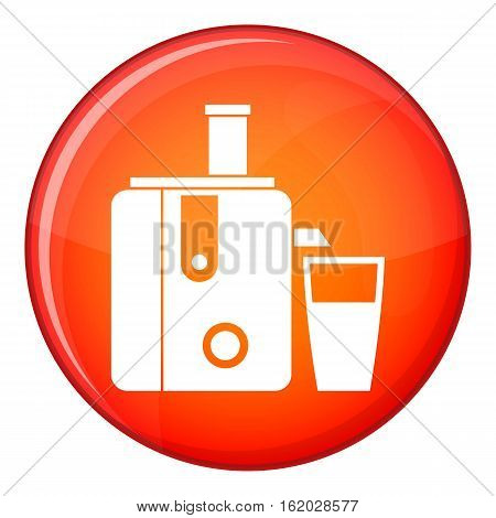 Juicer icon in red circle isolated on white background vector illustration