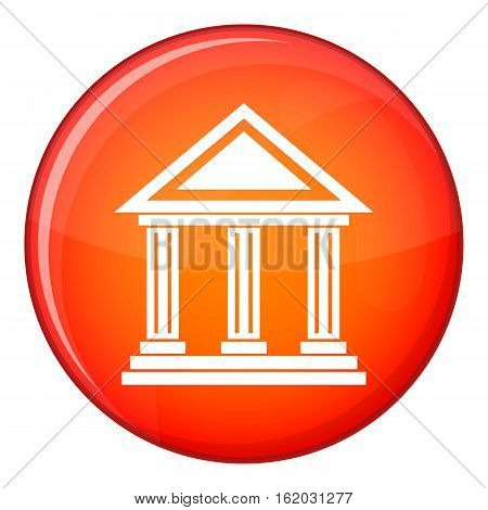 Colonnade icon in red circle isolated on white background vector illustration