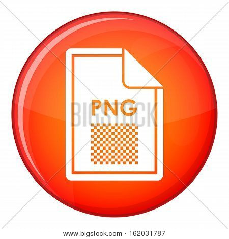 File PNG icon in red circle isolated on white background vector illustration