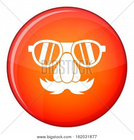 Clown face icon in red circle isolated on white background vector illustration