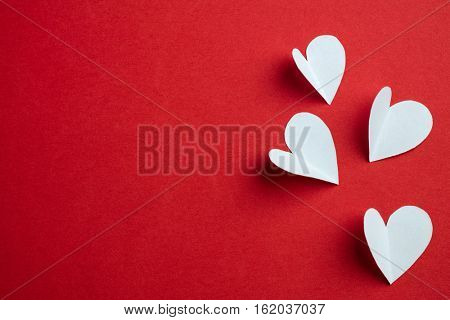 Handmade papers hearts - Love background, big size