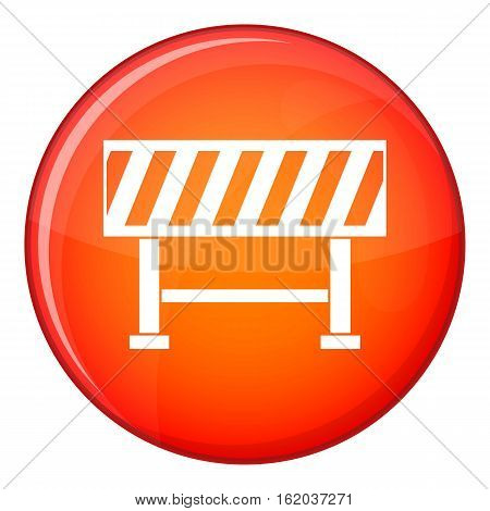 Traffic barrier icon in red circle isolated on white background vector illustration