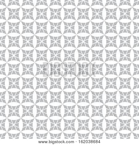 Seamless pattern. Modern stylish texture. Regularly repeating geometric tiles with rhombuses diamonds flowers. Vector abstract background