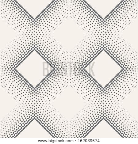 Vector seamless pattern. Modern stylish texture in the form of rhombic tile. Regularly repeating geometric shapes dotted diamonds rhombuses. Vector element of graphical design