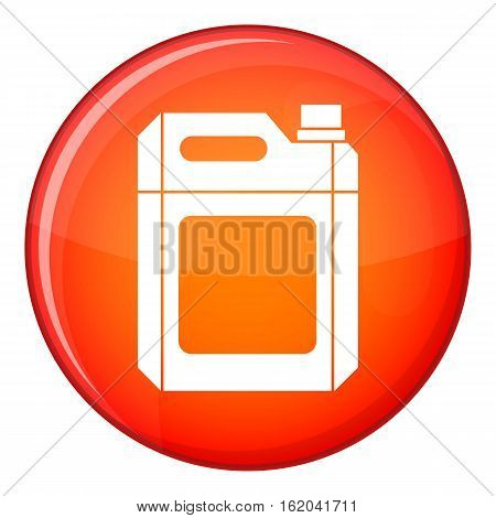 Plastic jerry can icon in red circle isolated on white background vector illustration
