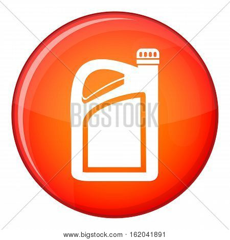 Jerrycan icon in red circle isolated on white background vector illustration