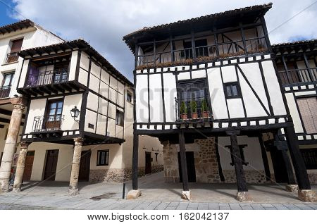 Traditional houses in Covarrubias Burgos Province Spain