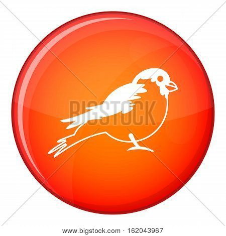 Bullfinch icon in red circle isolated on white background vector illustration