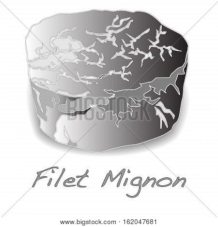 Filet mignon ready for cooking isolated on white background