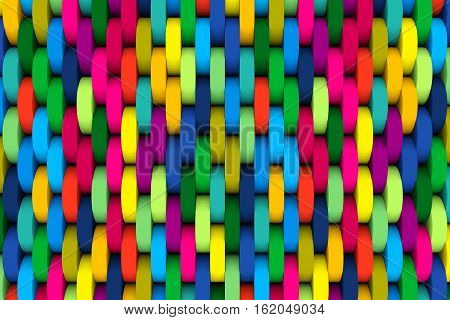 abstract background with wheel color 3d illustration
