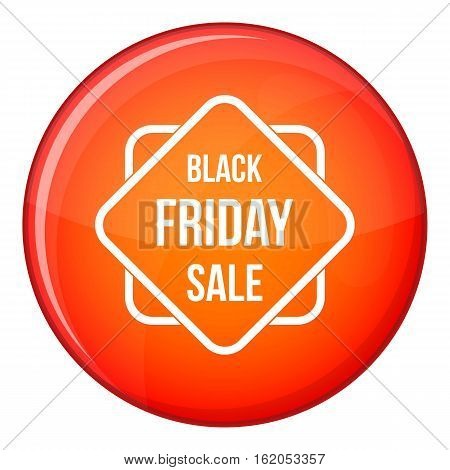 Black Friday sale sticker icon in red circle isolated on white background vector illustration